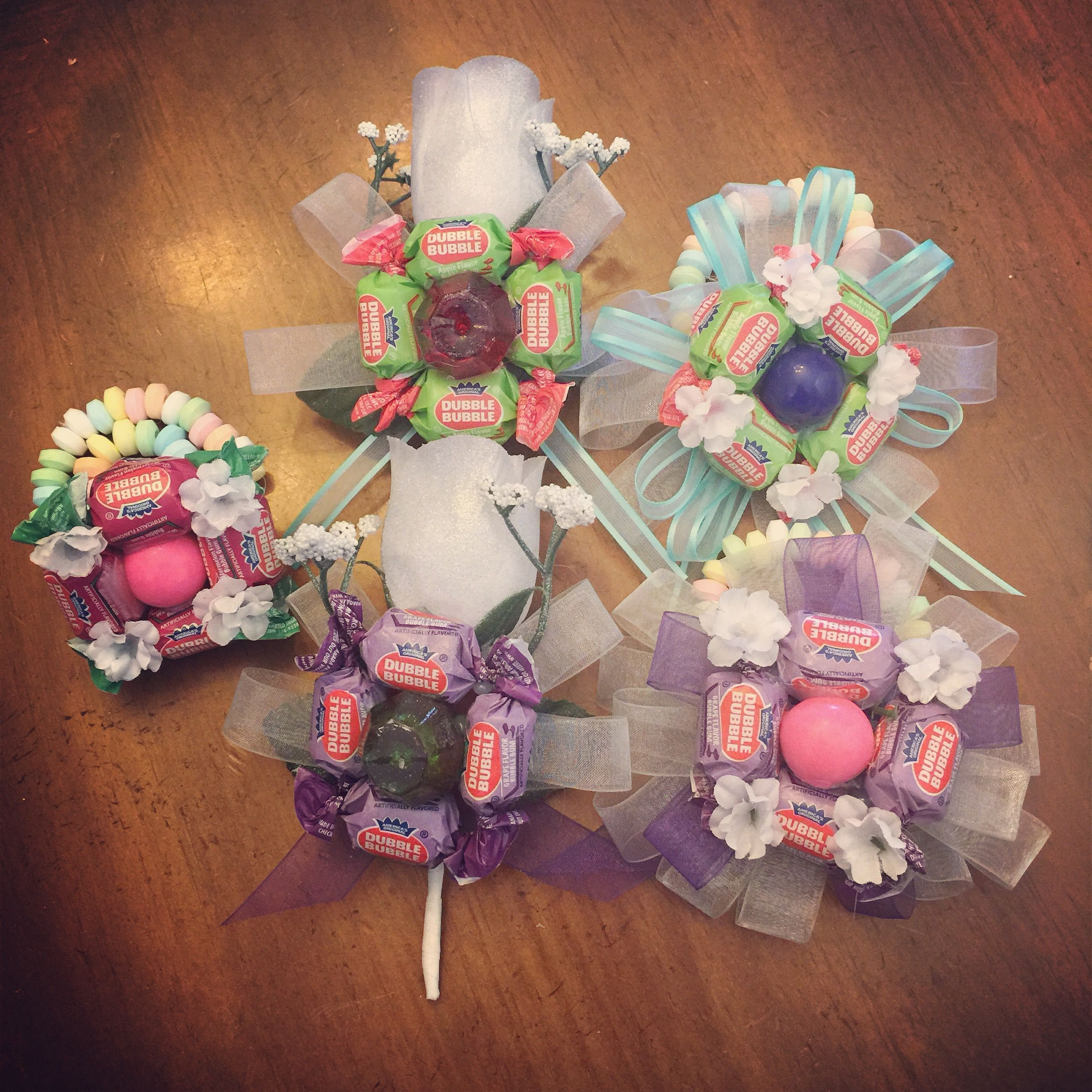 Candy Corsage And Boutonniere For Father Daughter School