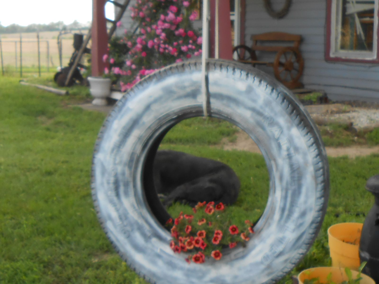 Tire Swing Planter Yard Art Tire Swings Yard Art Yard