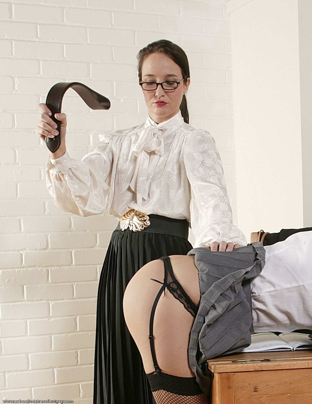 Spank him governess bare cane
