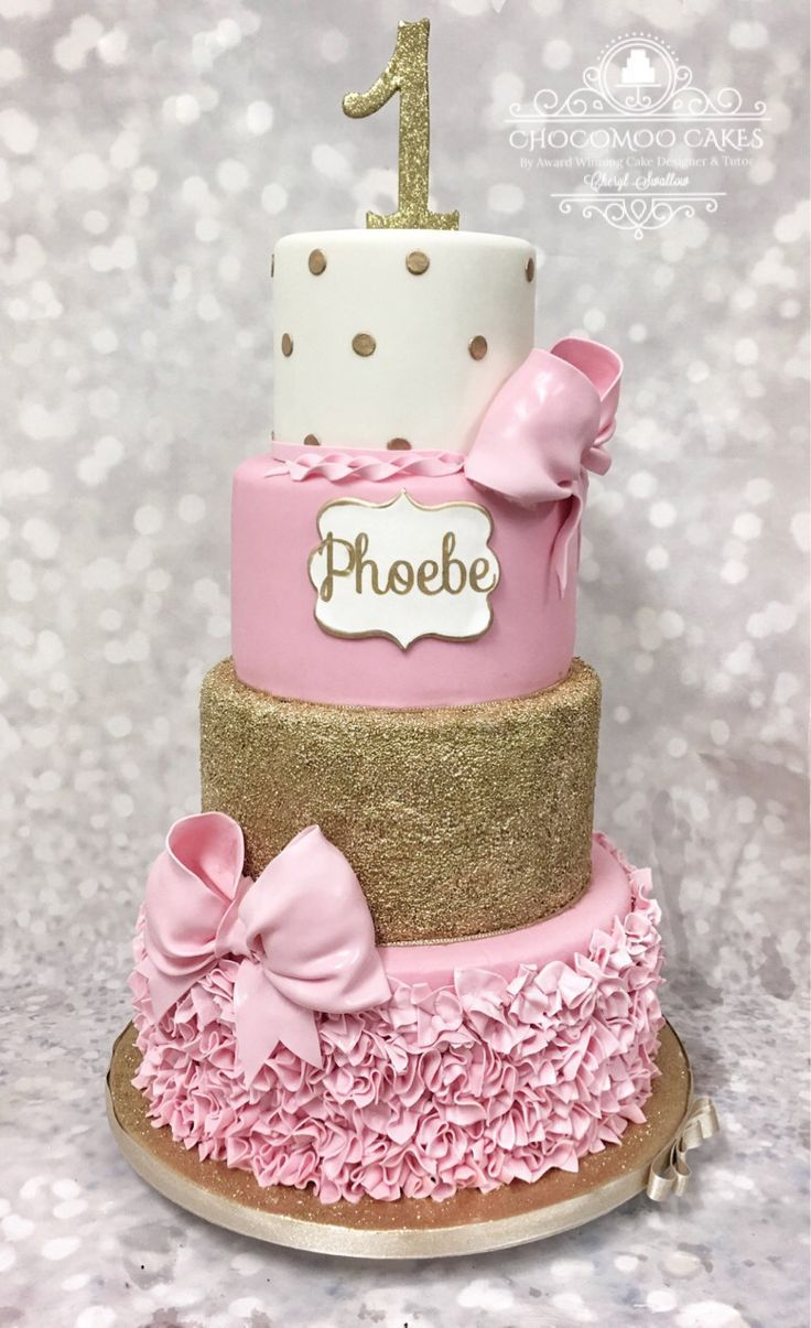 25+ Inspiration Bild von Baby Girl First Birthday Cake