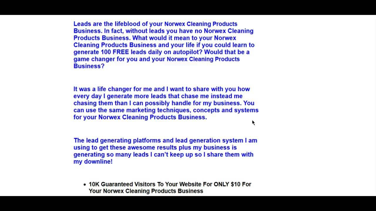 Norwex Leads | Cleaning Products Online Leads Generate Free 100 ...