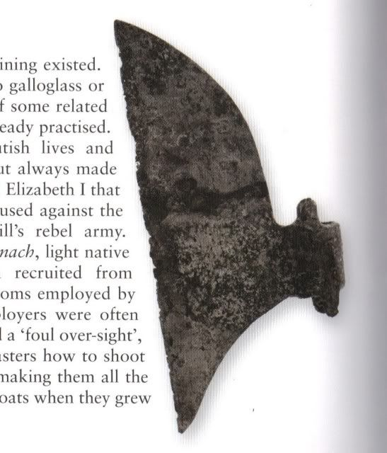 Irish Axe Used By The Medieval Gallowglass Soldiers