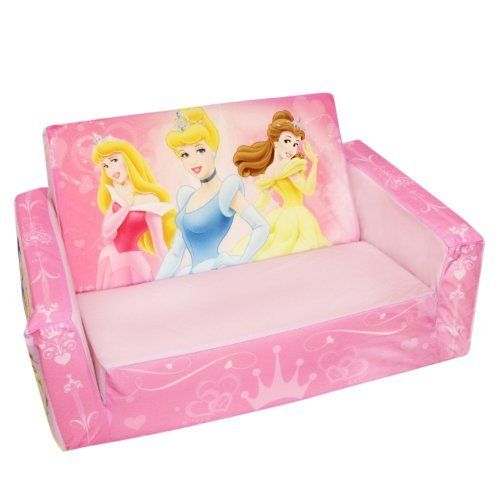 Marshmallow Flip Open Sofa Disney Princess Theme 778988923245