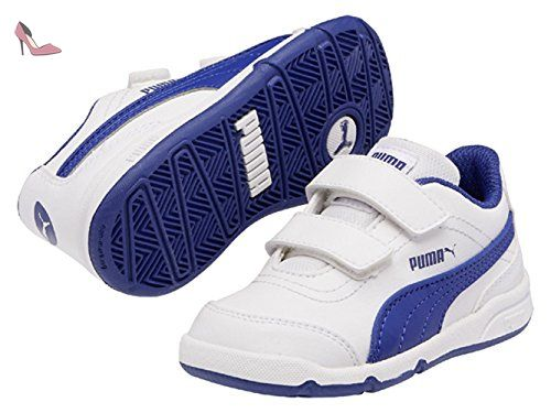 Smash CV, Sneakers Basses Homme, Blanc White-True Blue 13, 40 EUPuma