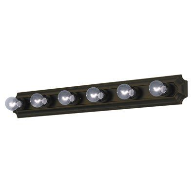 Project Source 6 Light Bronze Bathroom Vanity Light