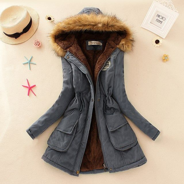 2016 New Parkas Female Women Winter Coat Thickening Cotton Winter ...