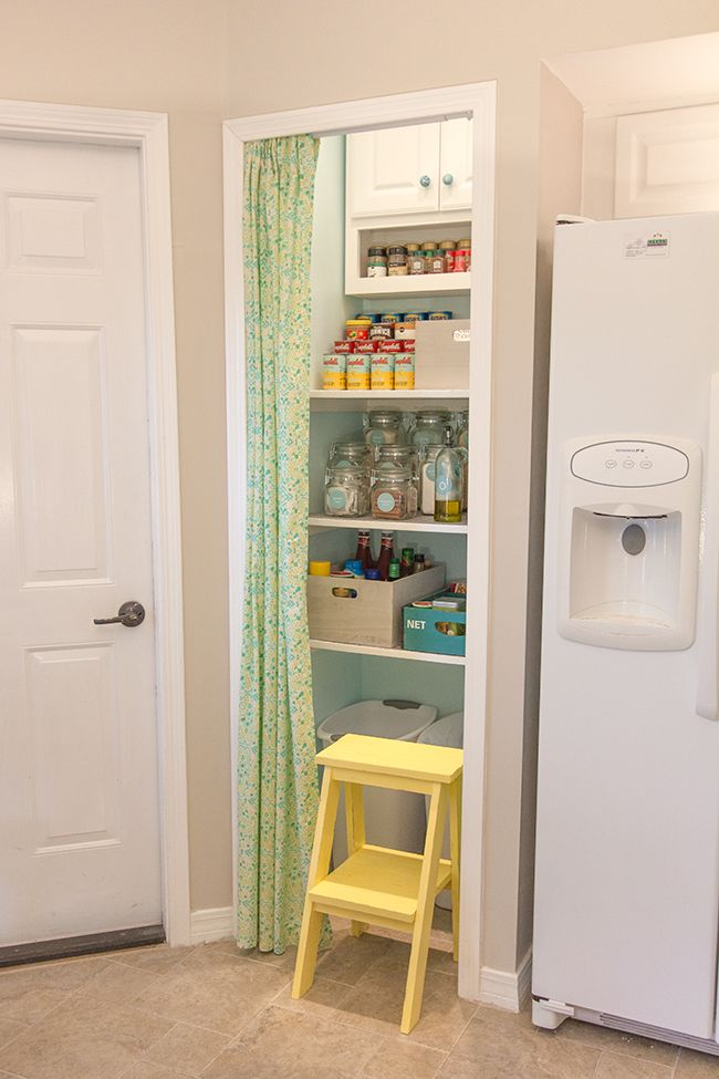 Step Stool From Ana White No Sew Curtains Door Pantry Organization Organized