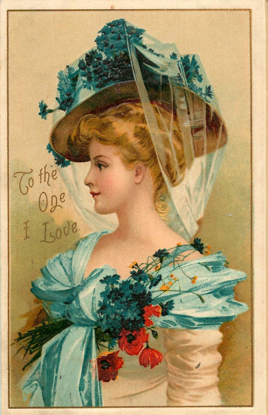 Beautiful Young Woman with Stylish Hat Victorian Embossed Postcard C1910s | eBay