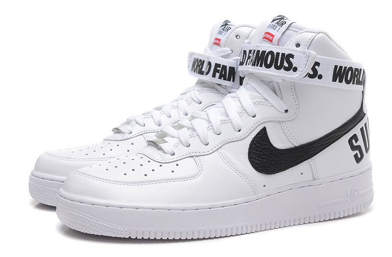 NIKE AIR FORCE 1 HIGH SUPREME WORLD FAMOUS WHITE | Nike