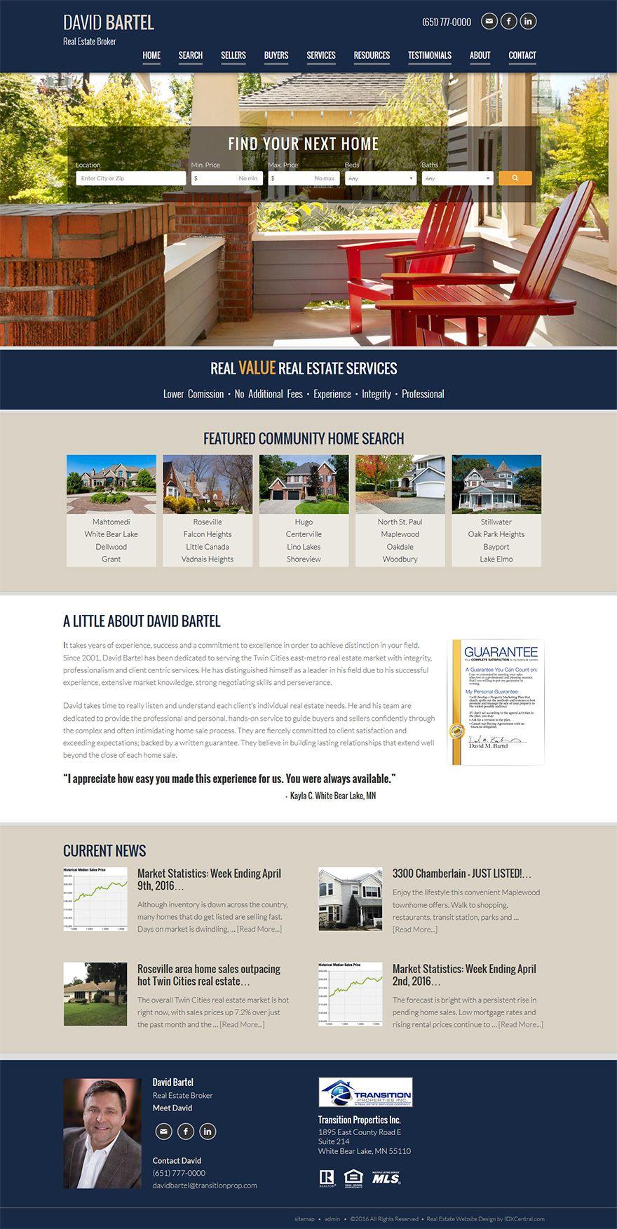 Minnesota Reator David Bartel Serving Minneapolis Mn Real Estate Market Has A Beautiful Responsive Real Esta Real Estate Us Real Estate Real Estate Website