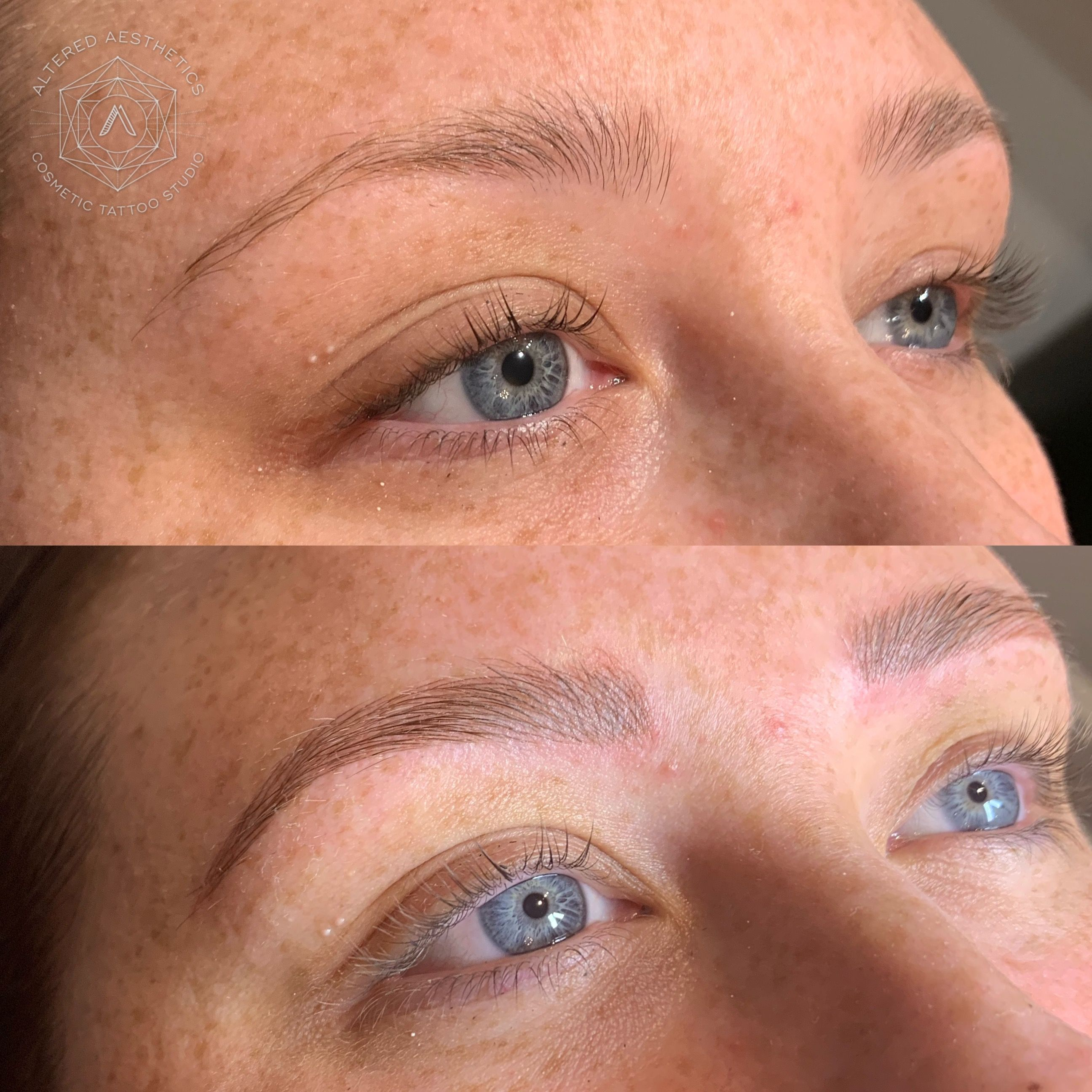 Freshly microbladed brows perfection microblading