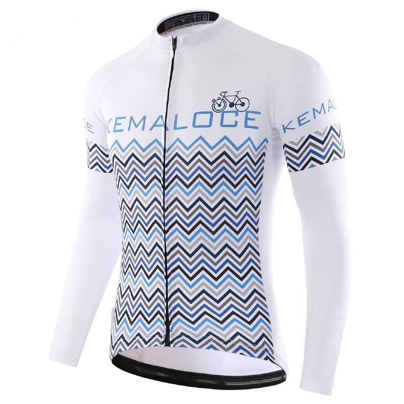 12 Men Bicycle Shirts Quick dry Bike Jersey Sports Long Cycling Shirt   LJ 010 / L