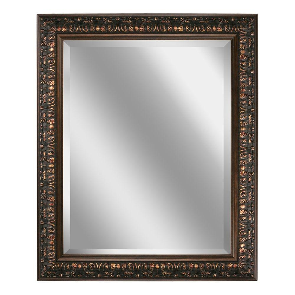 Deco Mirror 29 In W X 35 In H Framed Rectangular Beveled Edge Bathroom Vanity Mirror In Bronze 8836 The Home Depot Beaded Mirror Mirror Wall Ornate Mirror [ 1000 x 1000 Pixel ]