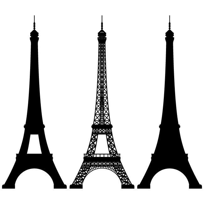 Eiffel tower vector image silhouettes pinterest vector clipart eiffel tower vector image thecheapjerseys Image collections