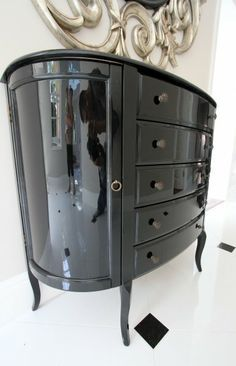 Lacquered High Gloss Old Furniture