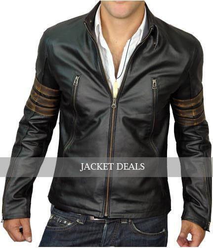 X Men Wolverine Origins XO Logans XMen Leather Biker Style Jacket - S M L XL 2X