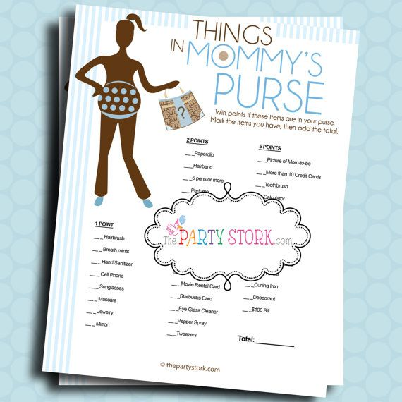 Nice Baby Shower Games Things In Mommys Purse By Thepartystork On Etsy, $5.99