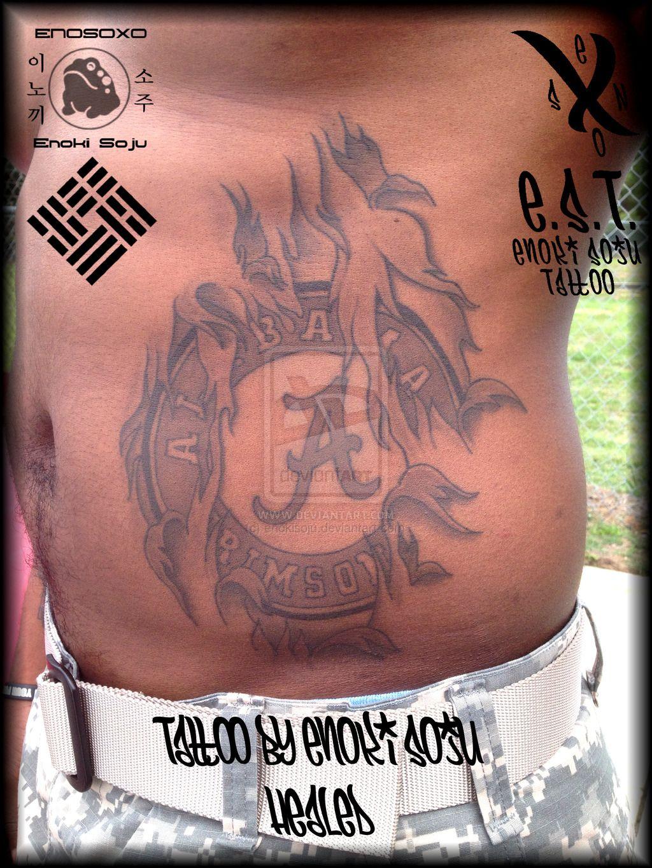 alabama crimson tide tattoo healed by enoki soju by on deviantart. Black Bedroom Furniture Sets. Home Design Ideas