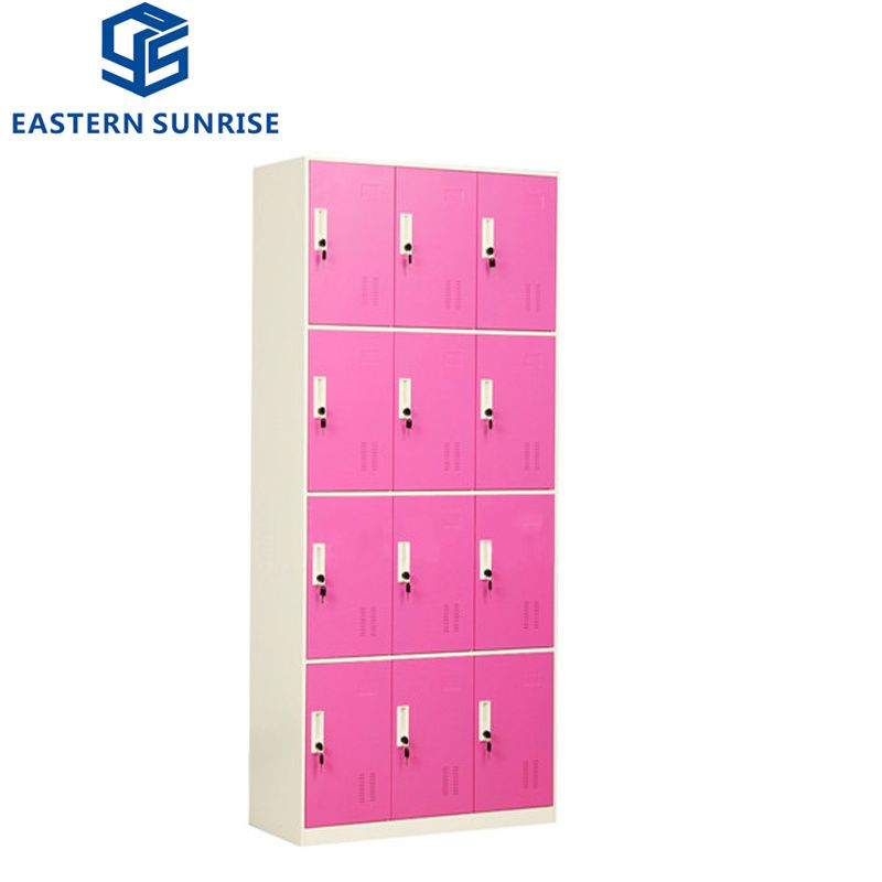Hot Item 12 Doors Storage Durable Hostel Locker School Locker Employee Locker Office Locker In 2020 School Lockers Door Storage Chrome Handles