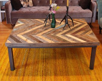 Reclaimed Pallet And Barn Wood Pub Bistro Kitchen By Newantiquity Chevron  Coffee Tables, Chevron Table