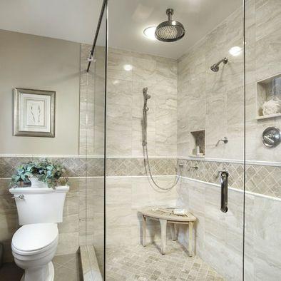 Shower Tile Design Ideas Pictures Remodel And Decor Traditional Bathroom Traditional Bathroom Designs Bathroom Wall Tile Design