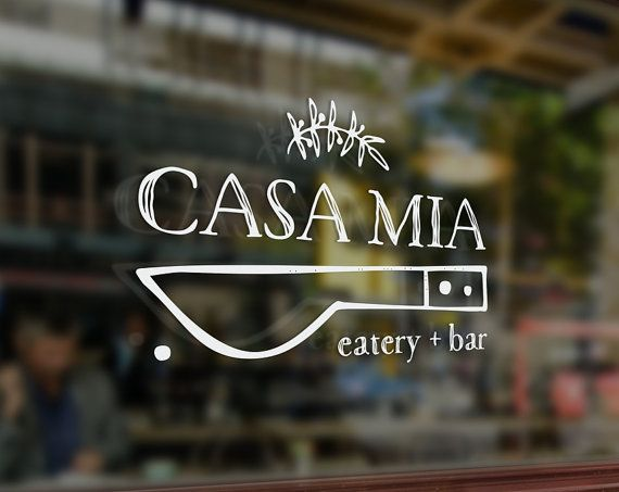restaurant name and logo
