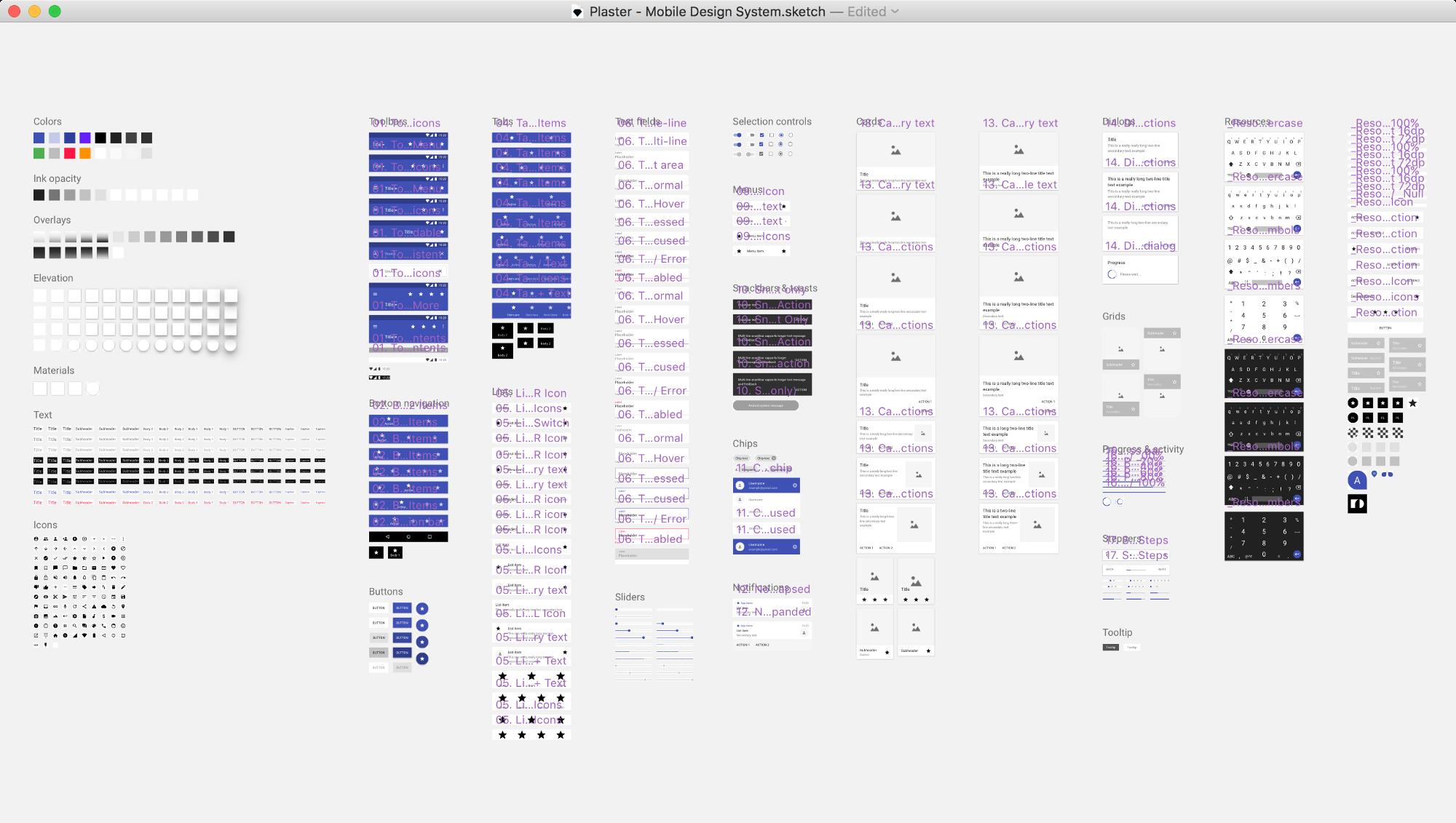 Material Design System With Sketch Symbols Design Sketch
