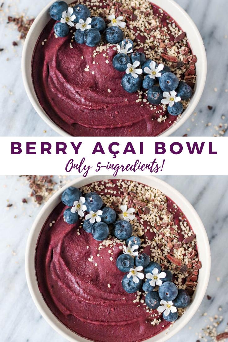 5 Ingredient Berry Protein Acai Bowl | ShortGirlTallOrder