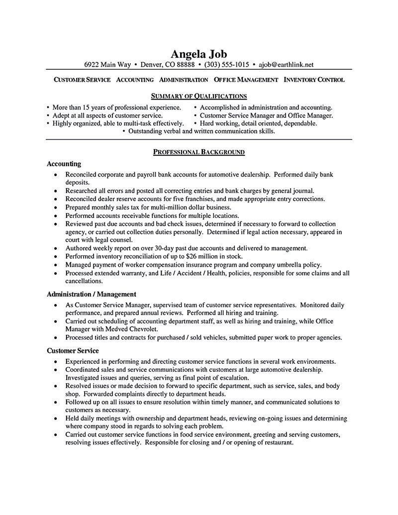 Customer Service Resume Yay Pinterest – Customer Service Resume