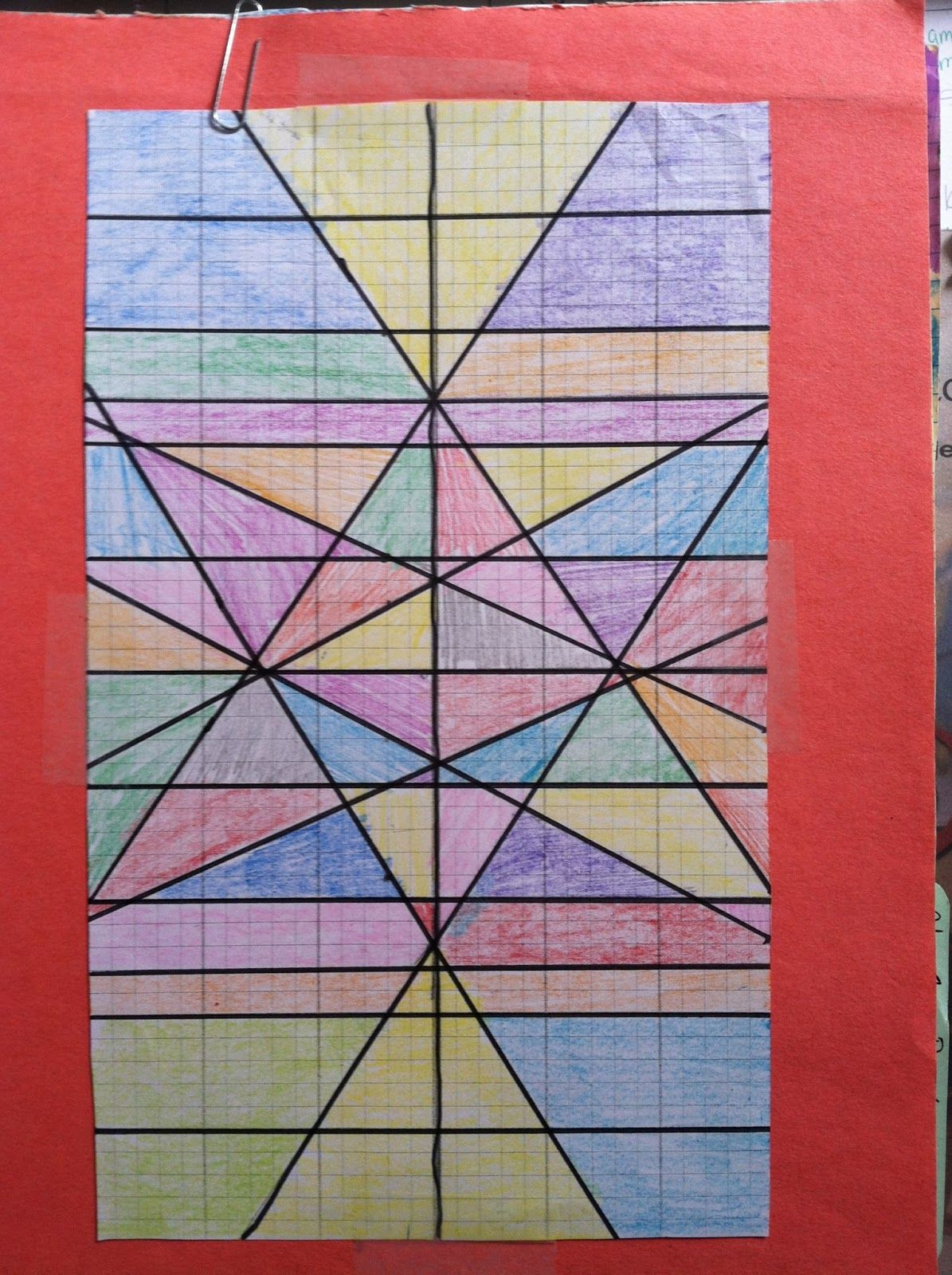 Stained Glass Window Graphing Lines Math Worksheet Graphing Project Stained Glass
