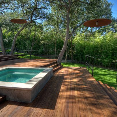 Floating Deck Designs Design Ideas Pictures Remodel And Decor Backyard Pool Hot Tub Landscaping Small Pool Design