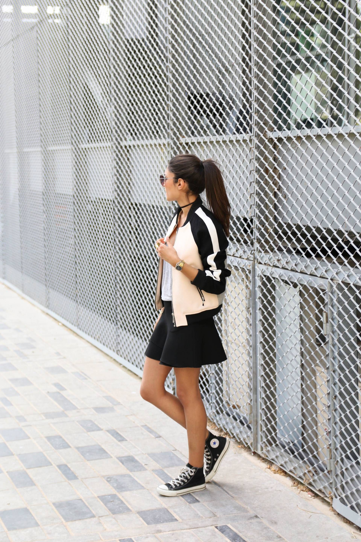 converse haute avec jupe