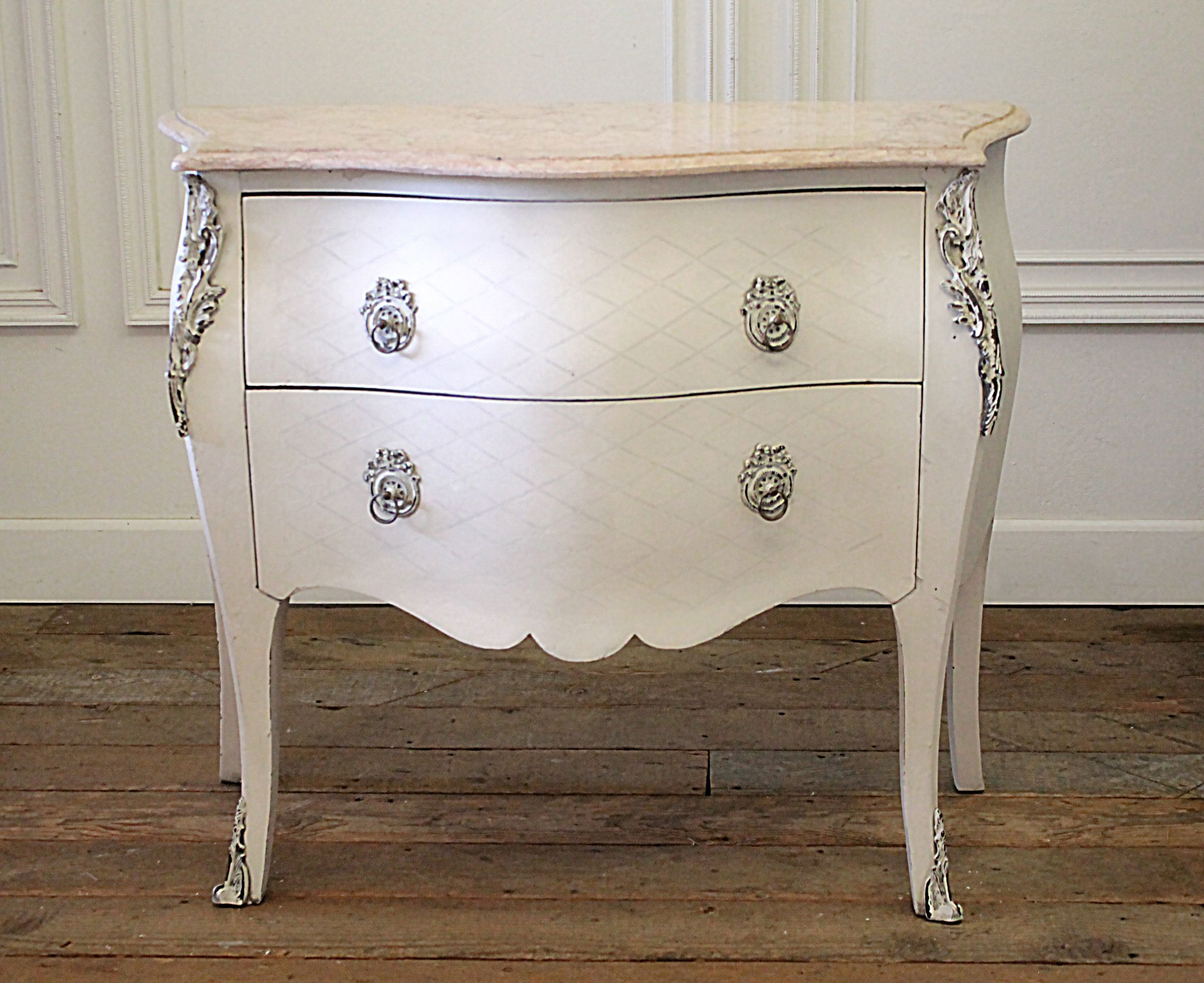 Vintage 2 Drawer Commode with Marble Top 1,899 in 2019