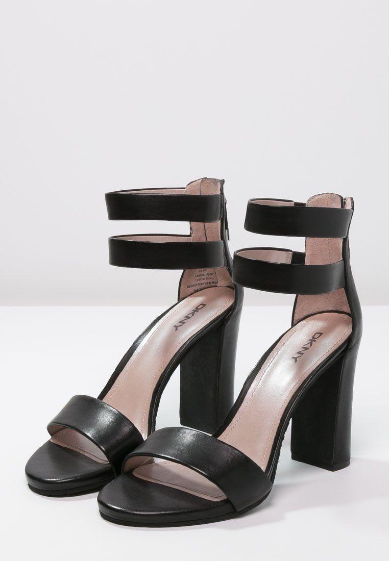 Dames DKNY ROBERTA Sandalen met hoge hak black Zwart
