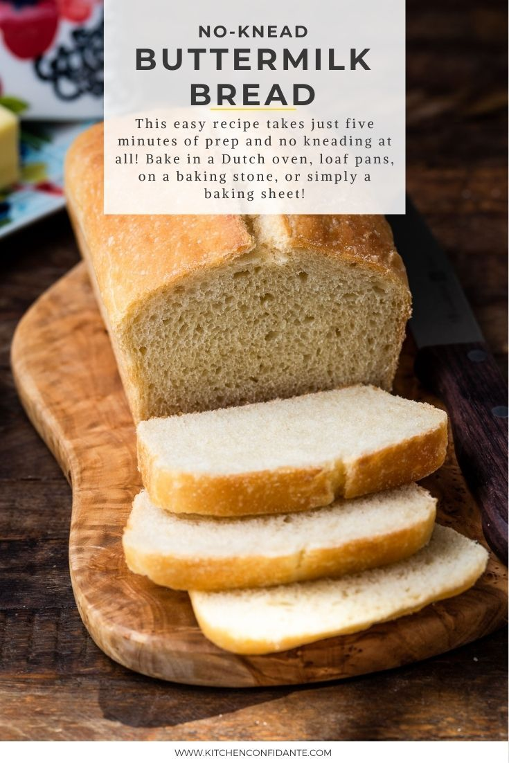 No Knead Buttermilk Bread Dutch Oven Loaf Boules Kitchen Confidante Recipe In 2020 Bread Recipes Homemade Bread Indian Dessert Recipes