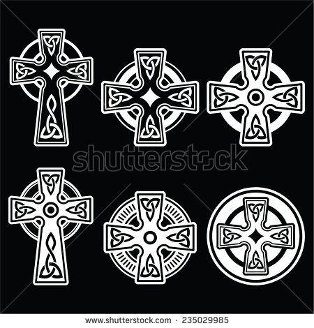 Irish Scottish Celtic White Cross On Black By Redkoala Stpatricks