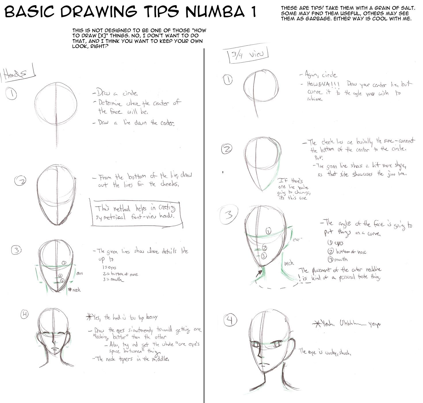 Basic Tips To Draw Heads