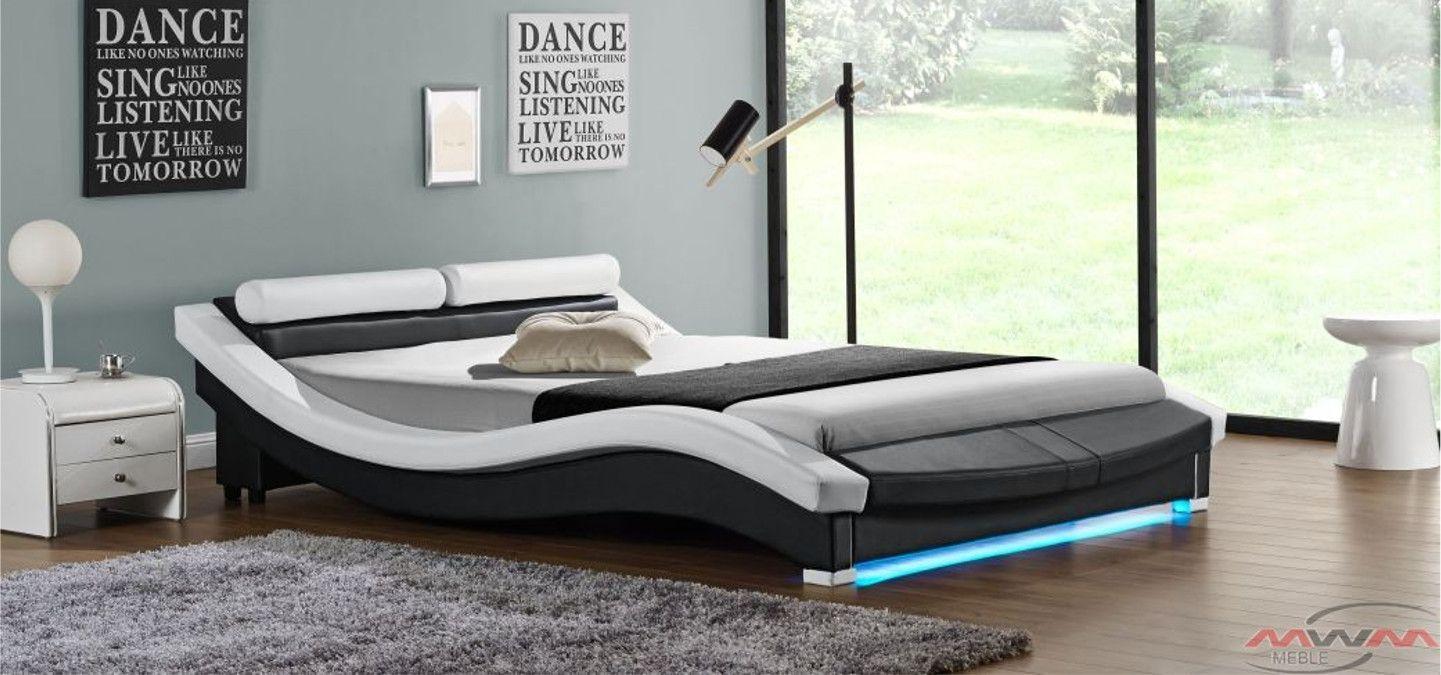 łóżko Tapicerowane Do Sypialni 160x200 847 Led Bedroom W