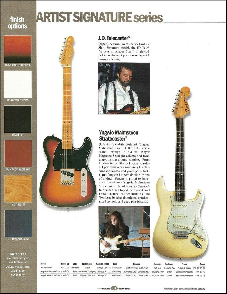 Yngwie Malmsteen Jerry Donahue James Burton Fender Telecaster Guitar Ad Print Fender In 2020 Fender Telecaster Telecaster Guitar