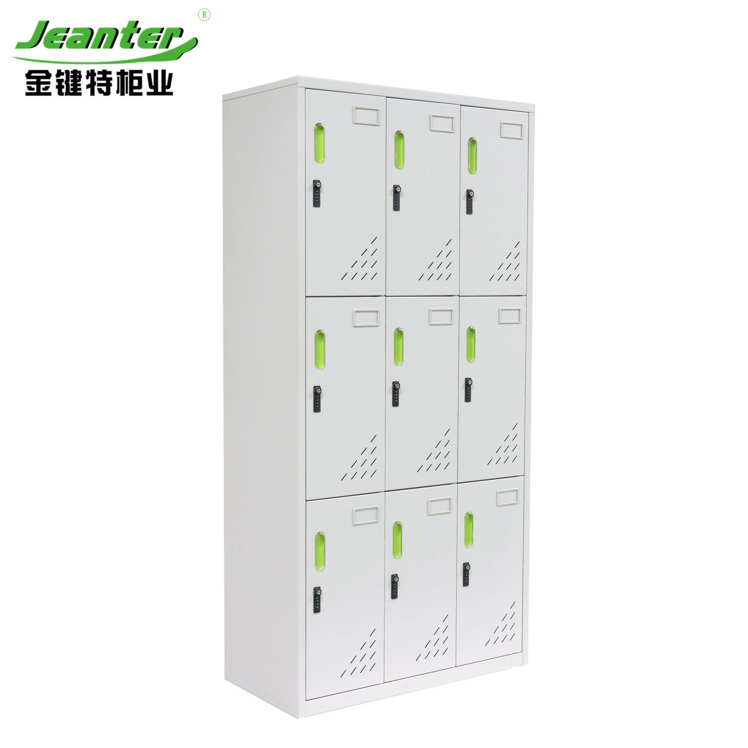 Hot Item Steel 9 Doors Locker With Long Handle In 2020 Steel Locker School Storage Storage