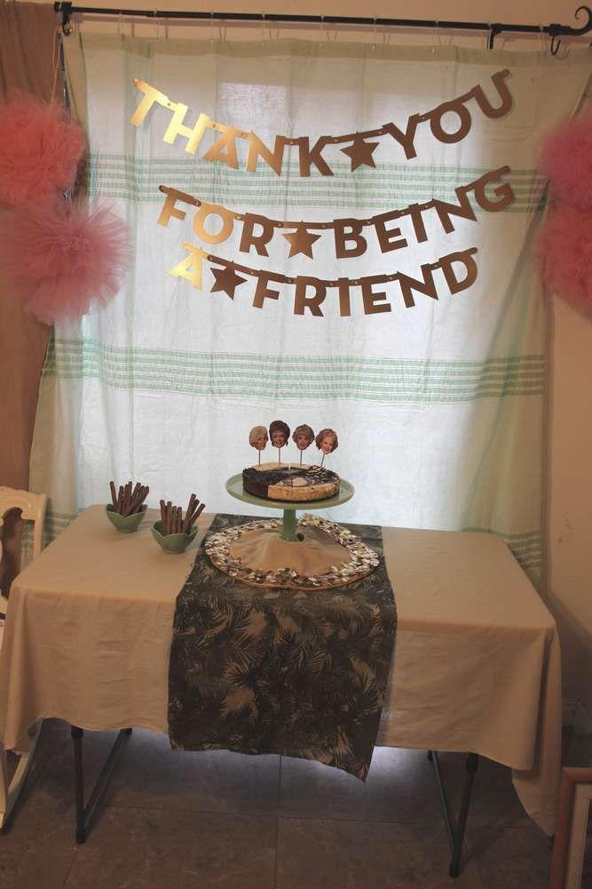 Girls Dinner Party Ideas Part - 24: The Golden Girls Dinner Party Party Ideas | Photo 14 Of 85