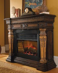 The Ambella St. Andrews Electric Fireplace Mantel Is Handsome And Features  A Marble Surroundings. Enjoy The Flame Without The Heat For Comfortable ...