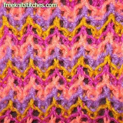 Knitting Stitch Patterns -- Multi-Colored Stitches ...