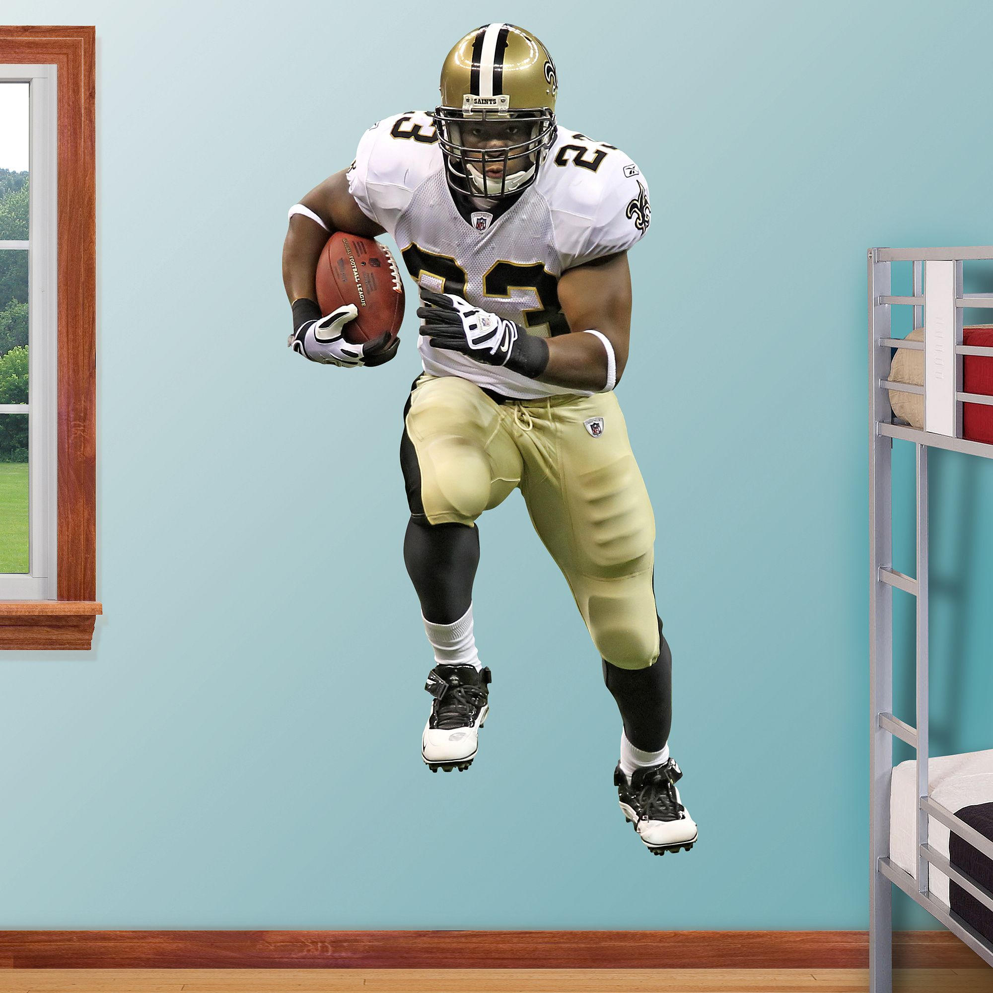 bd6b0f47 Pierre Thomas REAL.BIG. Fathead Wall Decal | New Orleans Saints Wall ...