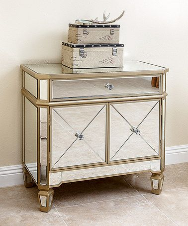 Another great find on #zulily! Silver & Gold Allen Mirror Console Table Cabinet #zulilyfinds