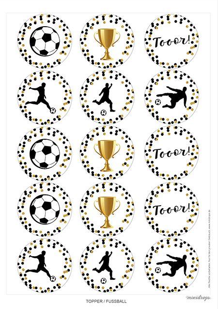 Fußball Topper Fussball Printables kostenlos