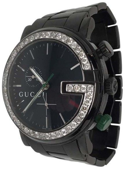 0a260f0bc2a Gucci 101M Black PVD   Stainless Steel Mens Watch