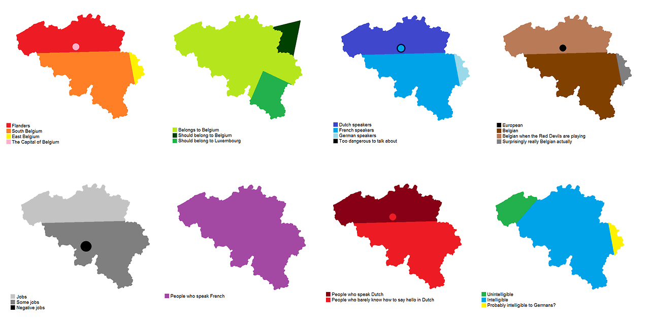 Maps on the Web — 8 ways to divide Belgium.[[MORE]] by viktor72: The ...
