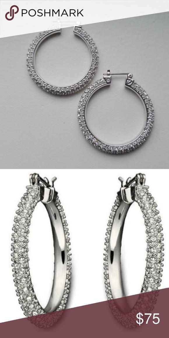 Swarovski Henna Pierced Crystal Hoops 1019082