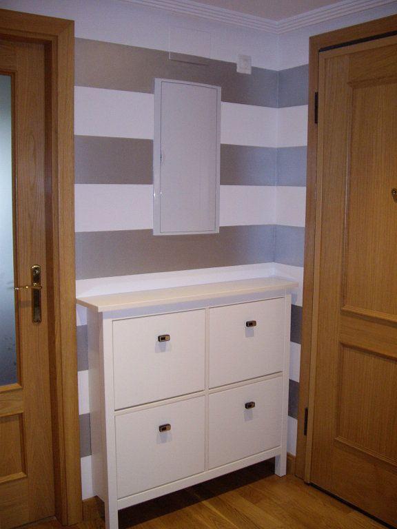 Zapatero de 4 puertas con dos patas mueble zapatero para pasillo pinterest zapateras - Muebles de pasillo ...